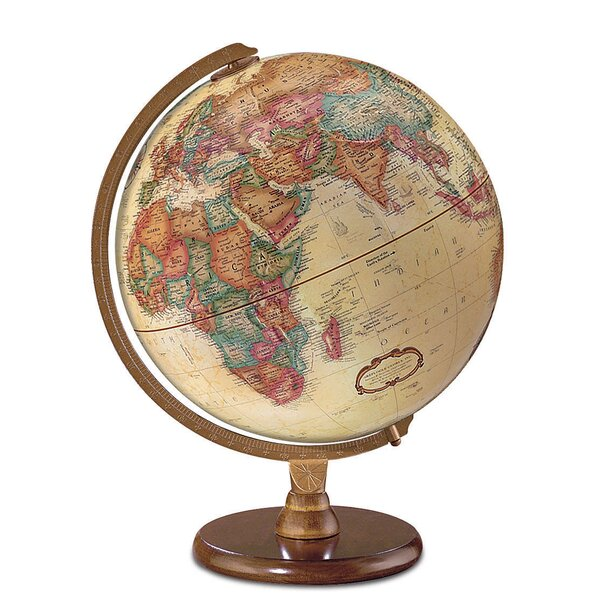 12 Antique French or English World Globe by Darby Home Co