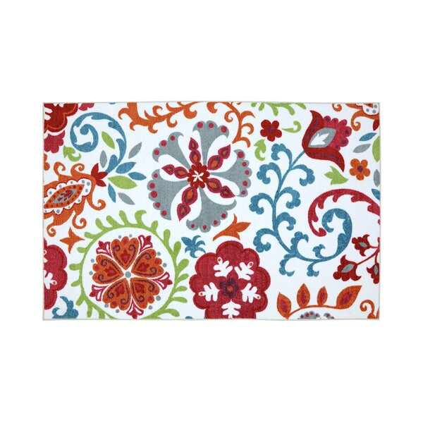 Shantel Red/Blue Indoor/Outdoor Area Rug by Winston Porter