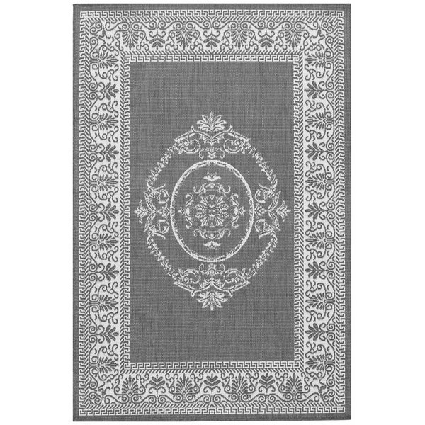 Celia Gray Indoor/Outdoor Area Rug by Beachcrest H