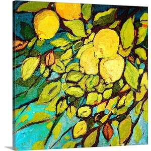 'Lemon Tree Fun' by Jennifer Lommers Painting Print on Canvas by Canvas On Demand