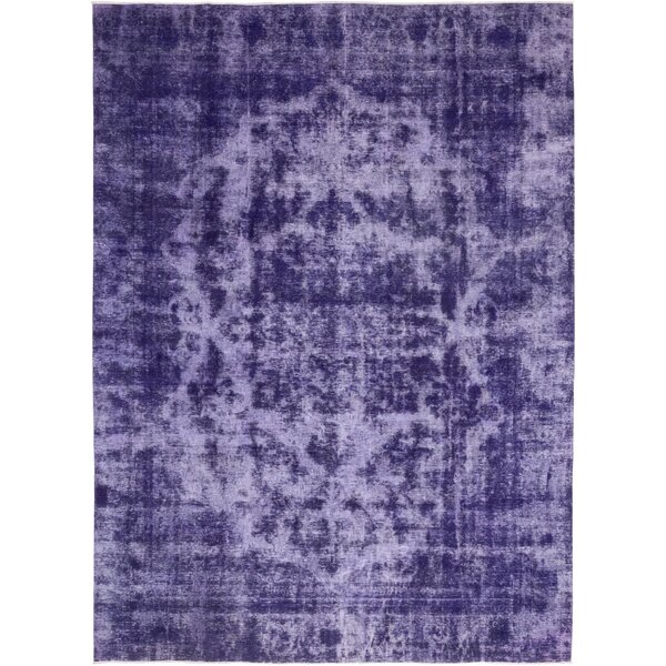 One-of-a-Kind Volkmar Hand-Knotted Wool Purple Indoor Area Rug by Bloomsbury Market