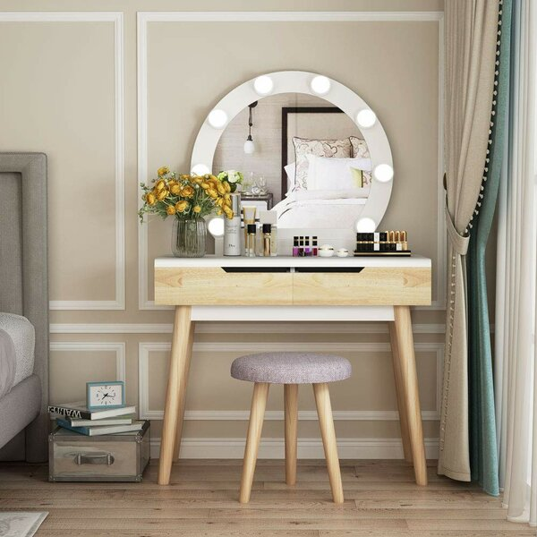 Bowyer Vanity Set with Mirror by Corrigan Studio