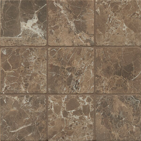 4 x 4 Marble Field Tile in Dark Java by Grayson Martin