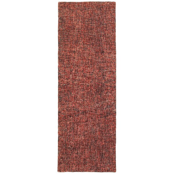Debrah Hand Knotted Wool Red Rug