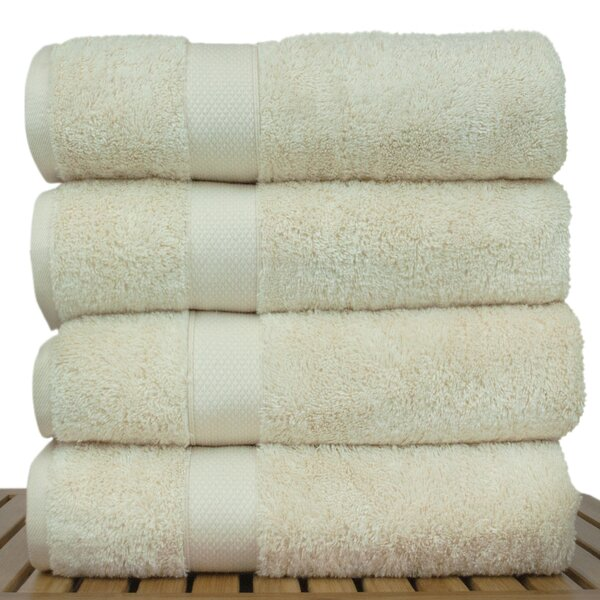 Blossom Turkish Cotton Bath Towel (Set of 4) by Bare Cotton