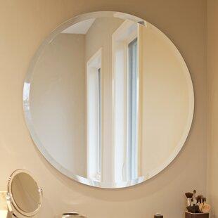 Orren Ellis Corriveau Frameless Round Wall Mirror