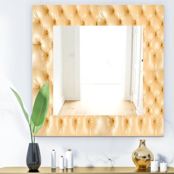 Leather Print Wall Mirror