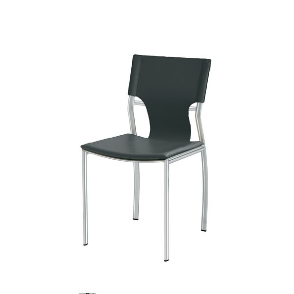 Lisbon Genuine Leather Upholstered Dining Chair by Nuevo