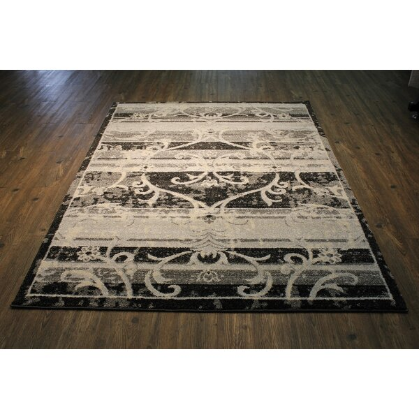 Van Horne Black/Tan Area Rug by Red Barrel Studio