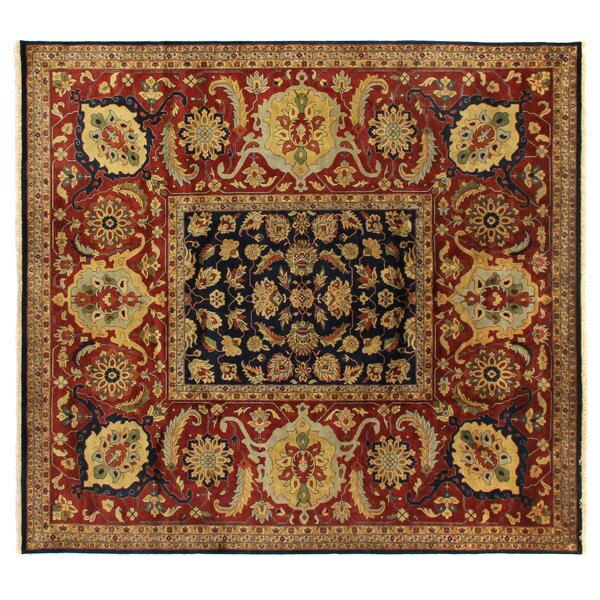 Tabriz Hand Knotted Wool Navy Area Rug by Exquisite Rugs