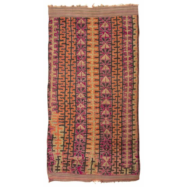 One-of-a-Kind Moroccan Hand-Knotted 1900s Brown 5'10 x 11'3 Wool Area Rug