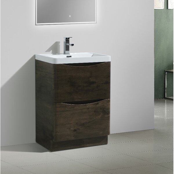 Ruelas Free Standing Modern 24 Single Bathroom Vanity Set by Wrought Studio