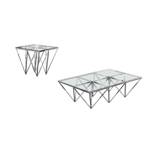 Krohn 2 Piece Coffee Table Set By Everly Quinn