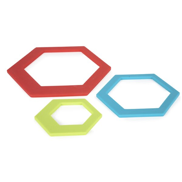 3 Piece Bullseyes Trivet Set by Core Kitchen