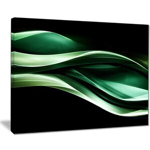 'Glittering Green Pattern' Graphic Art Print on Canvas by East Urban Home
