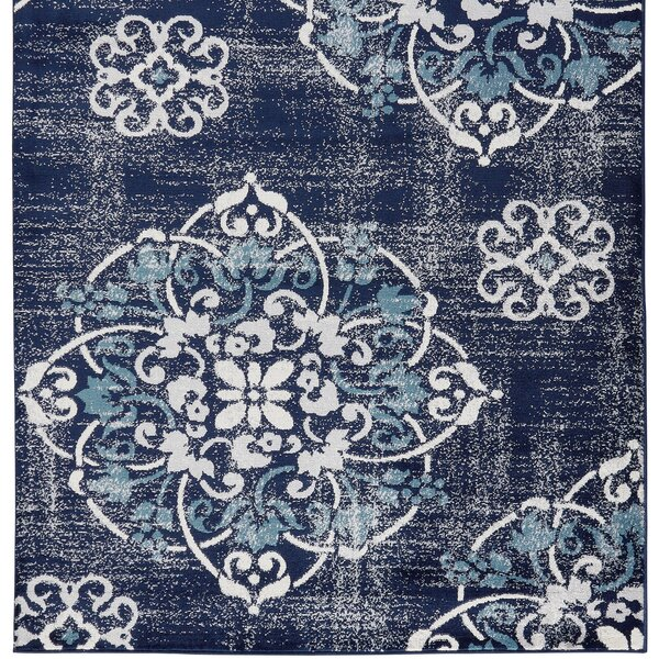 Bailee Navy Area Rug by Bungalow Rose