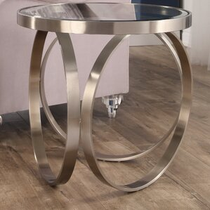 Amira Stainless Steel End Table by Orren Ellis