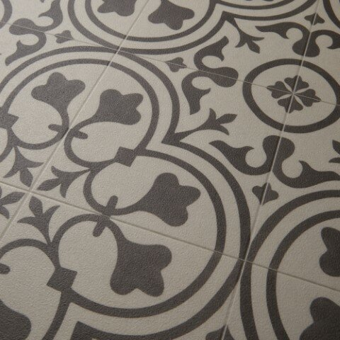 Freestyle™ Deco Wrought Iron/Beige Area Rug by Mannington