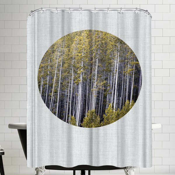 Annie Bailey Into The Forest Shower Curtain by East Urban Home