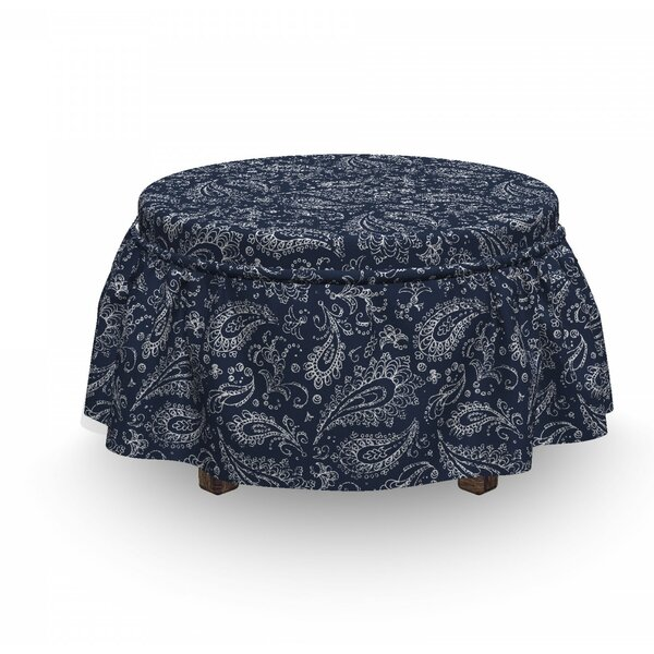 Home & Garden Boho Grunge Ottoman Slipcover (Set Of 2)