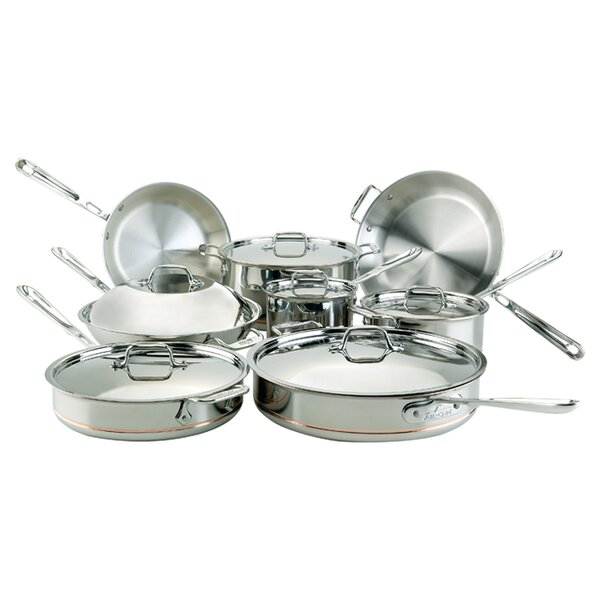 Copper Core 14 Piece Cookware Set by All-Clad