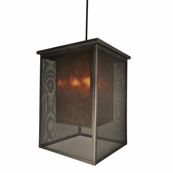 Palm Springs 1 - Light Shaded Rectangle / Square Chandelier by Steel Partners Steel Partners