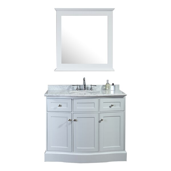 Georgette 42 Single Bathroom Vanity Set with Mirror by Darby Home Co