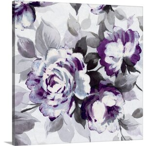 Scent of Roses III Painting Print on Wrapped Canvas in Plum by Great Big Canvas
