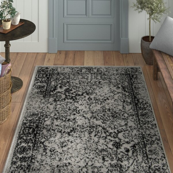Howser Gray/Black Area Rug by Laurel Foundry Modern Farmhouse