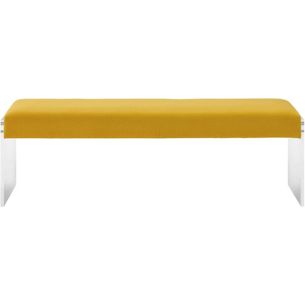 Jeanie Upholstered Bench by Everly Quinn