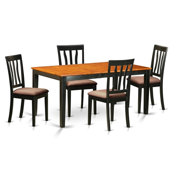5 Piece Extendable Dining Set by East West Furniture East West Furniture