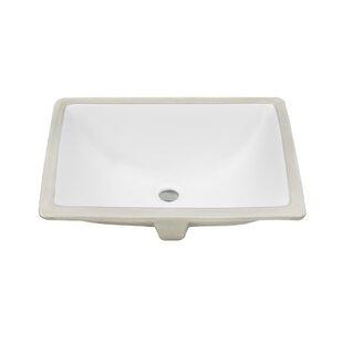 Buying Belfast Series Ceramic Rectangular Undermount Bathroom Sink with Overflow ByTicor Sinks