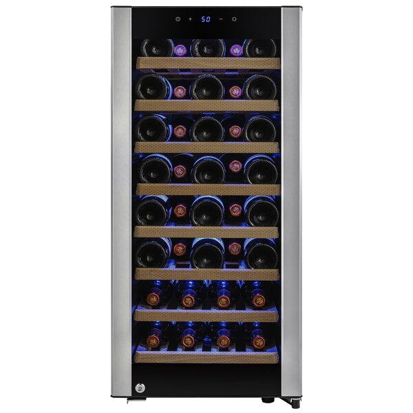 38 Bottles Single Zone Freestanding Wine Cooler by AKDY