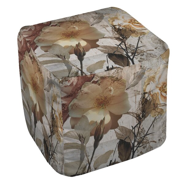 Blooming Cube Ottoman by East Urban Home