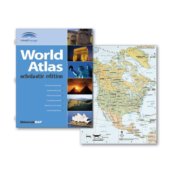 World Atlas Scholastic Edition by Universal Map