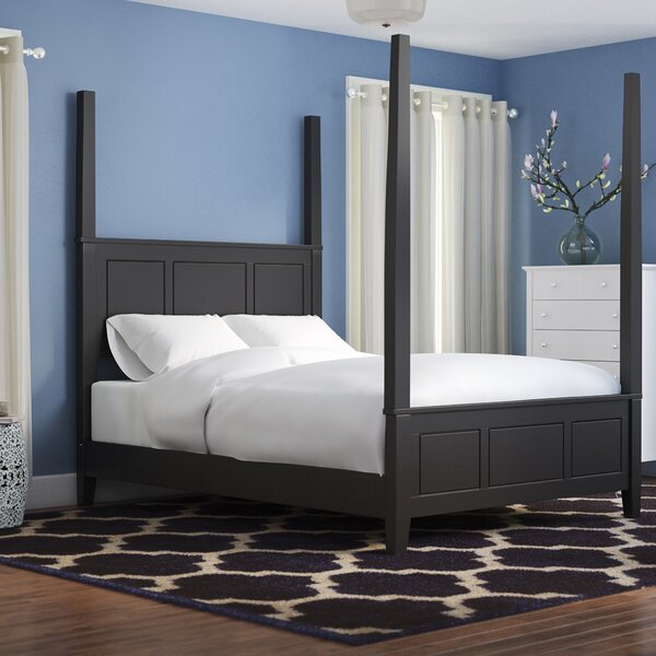 Mckeel Upholstered Four Poster Bed by Alcott Hill