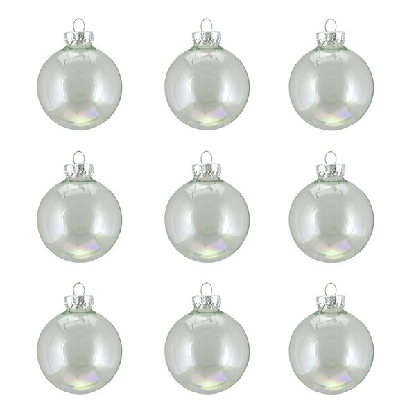 Iridescent Glass Ball Christmas Ornament (Set of 9) by Alcott Hill