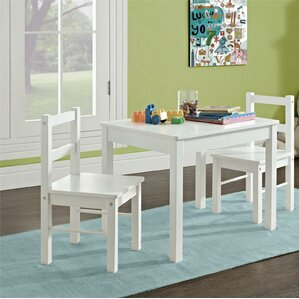 suri kidsu0027 3 piece rectangle table and chair set - Wayfair Dining Chairs