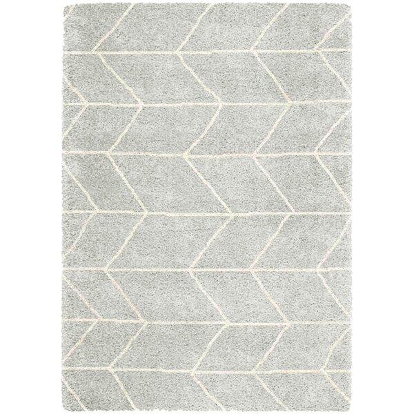 Hollowell Light Gray Area Rug by Wrought Studio