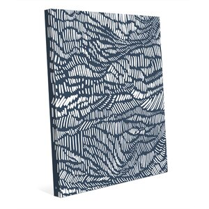 Parallel Waves Main Graphic Art on Wrapped Canvas by Click Wall Art