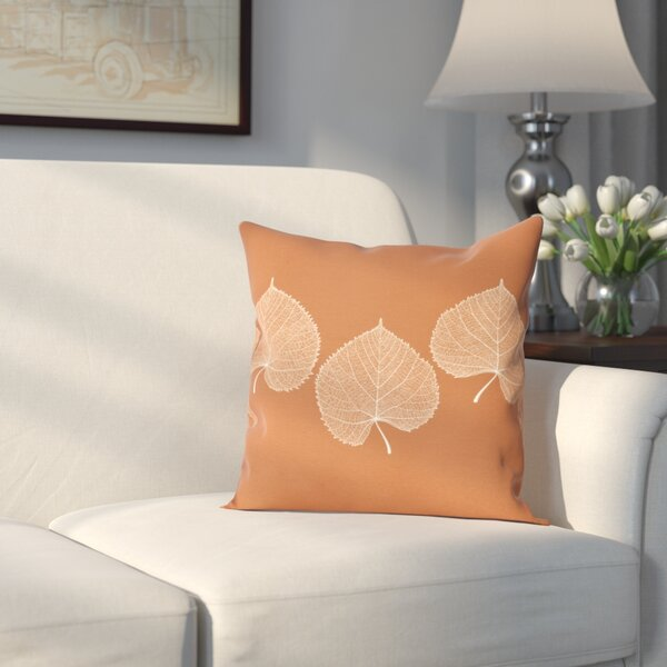 Leatham Leaf 2 Floral Outdoor Throw Pillow by Charlton Home