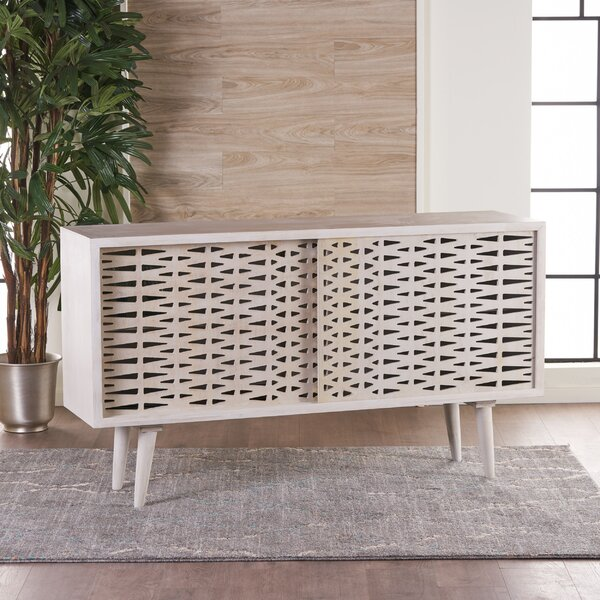 Grady Wood Sliding Door Accent Cabinet by Bungalow Rose
