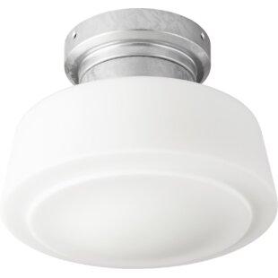 Read Reviews 1-Light Schoolhouse Ceiling Fan Light Kit By Breakwater Bay