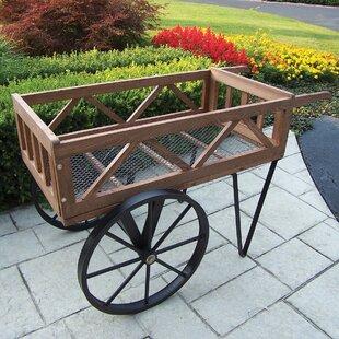 Beau Cedar Wheelbarrow Planter
