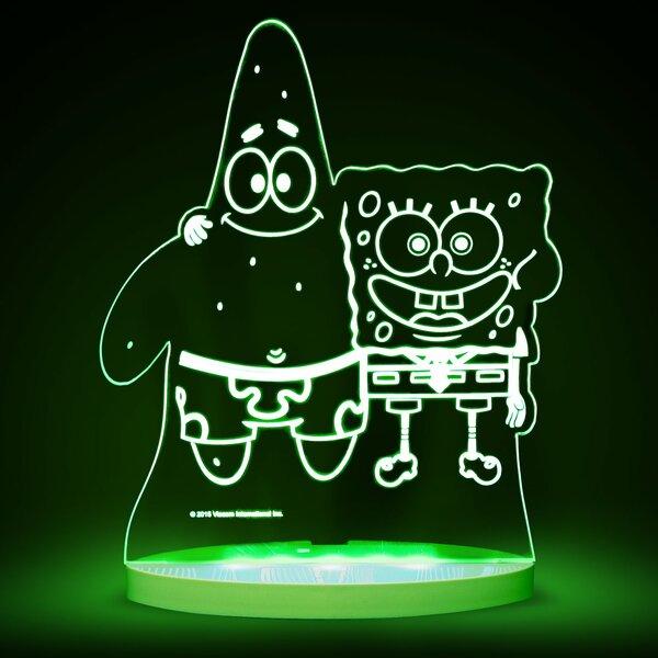 Nickelodeon SpongeBob SquarePants and Patrick LED 3-Light Night Light by CompassCo