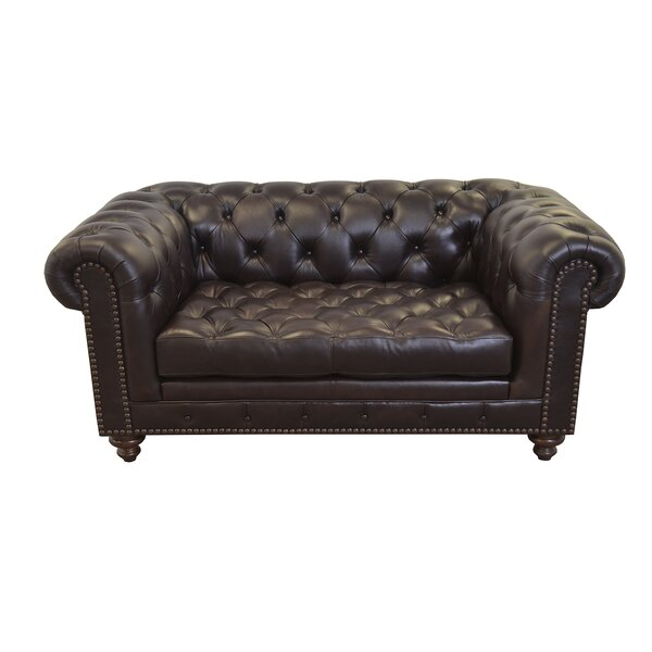 Cambridge Leather Chesterfield Sofa by Westland and Birch
