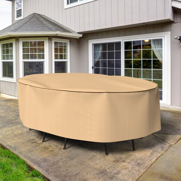 Chelsea Oval Patio Table and Chairs Combo Cover by Budge Industries