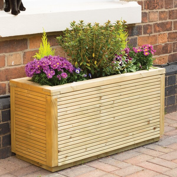 Wegman Wood Planter Box by Gracie Oaks