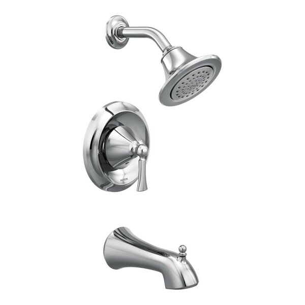 Wynford Posi-Temp Tub and Shower Faucet Trim with Lever Handle by Moen