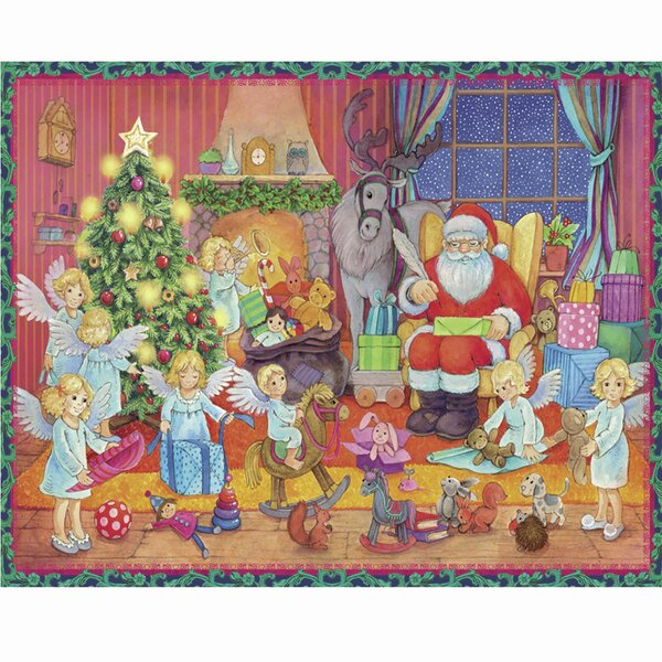 Sellmer Small Santa with Angels Advent Calendar by The Holiday Aisle